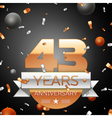 Forty three years anniversary celebration vector image vector image