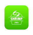 fresh shrimp icon green vector image vector image