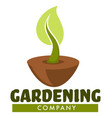 gardening company isolated icon tree sprout in vector image