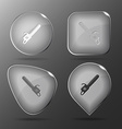 Gasoline-powered saw Glass buttons vector image vector image