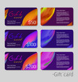 gift coupon discount card template with abstract vector image vector image
