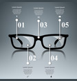 glasses icon abstract infographic vector image