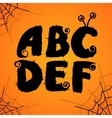 halloween scary colorful alphabet vector image vector image
