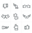Hand gesture black icons vector image vector image