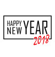 happy new year text in frame black border and vector image vector image