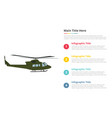helicopter military armyu infographics template vector image
