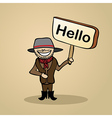 Hello from australia people vector image vector image