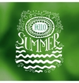 Hello Summer drawn quote on green vector image