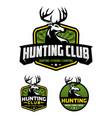 hunting club badge logo template vector image