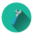 Icon of adjustable wrench vector image vector image