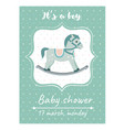 invitation baby shower card with cradlecard with vector image