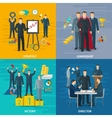 Leadership Concept Icons Set vector image vector image