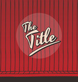 live stage red curtain vector image vector image