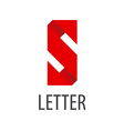 logo red ribbon in the shape of the letter S vector image vector image