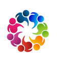 logo teamwork business community people vector image vector image