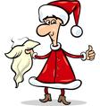 man in santa costume cartoon vector image vector image
