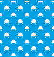 military helmet pattern seamless blue vector image vector image