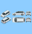 minivan car template on background compact vector image vector image