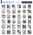 network technology black mini concept icons and vector image vector image