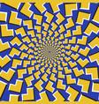 optical yellow arrows fly apart vector image vector image