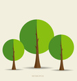 Paper green tree vector image