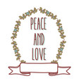 peace and love cartoon vector image vector image