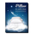 pillow for comfort dream advertising banner vector image vector image