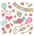 quirky fashion patches set with food items vector image