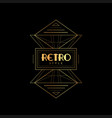 retro style golden and black vector image vector image