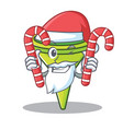 santa with candy funnel character cartoon style vector image vector image
