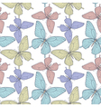 seamless background with colorful butterflies vector image