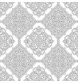 seamless pattern of black and white mandala vector image vector image