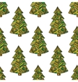 seamless pattern with image a christmas vector image vector image