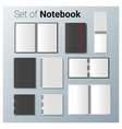 set of realistic notebook vector image