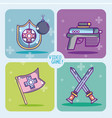 set of videogames icons vector image vector image