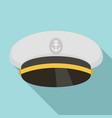 ship captain cap icon flat style vector image