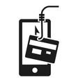 smartphone phishing icon simple style vector image
