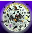 Spooky set of objects for Halloween vector image vector image