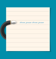 Stylized writing pen with paper sheet vector image