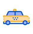 taxi car online icon vector image