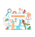 technical support computer repair team characters vector image vector image