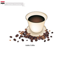 Traditional Arabic Coffee Popular Dink in Syria vector image vector image