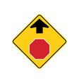 usa traffic road signwarning that a stop sign vector image vector image