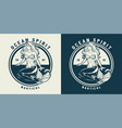 vintage monochrome nautical emblem vector image