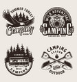 vintage summer camping emblems vector image vector image