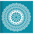 white abstract circle mandala blue background vect vector image