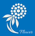 white flower made of paper vector image vector image