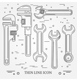 Wrench Icons Wrench Icons Wrench Icons Drawing Wr vector image