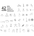 Set of spa beauty icons in linear style vector image
