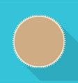 round postage stamp icon flat style vector image